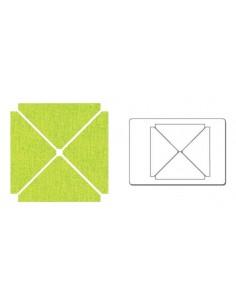 """Bigz L Die - Quarter-Square Triangles, 2""""H x 4""""W (cm 5,08x10,16)"""