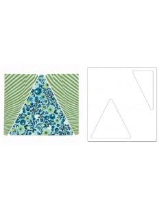 "Bigz Pro Die - Triangles. Isosceles & Right 6 1/2"" H Assembled"
