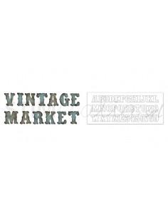 Bigz XL Alphabet Die - Vintage Market by Tim Holtz