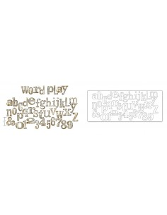 Bigz XL Alphabet Die - Word Play by Tim Holtz