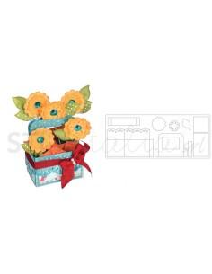 Bigz XL Die - Card in a Box, A2 Flower Basket by Lori Whitlock