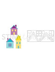 Bigz XL Die - Village Buildings by E.L. Smith **replaces 659164**