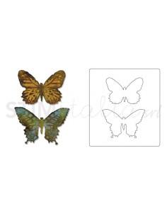 Bigz™ Die w/Texture Fades™ - Butterfly Duo by Tim Holtz®