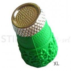 """Ditale antiscivolo in Silicone con punta in metallo """"XL"""" - 5 pz"""