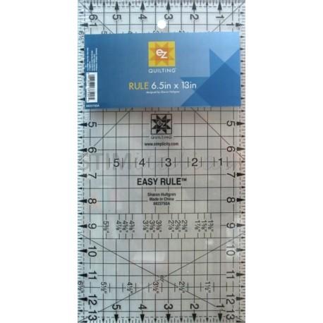 "Easy Rule - inch 13""x6,5"" / cm 33x16,5"