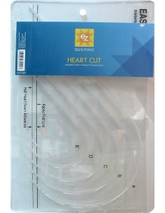 EZ Quilting - Easy Hearts - Squadra forma cuore 5 misure