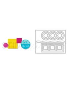 Framelits Die Set 12PK w/Stamps - Love, Hugs & Hearts by Stephanie Barnard