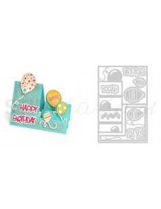 Framelits Die Set 23PK - Card, Balloons Step by Stephanie Barnard
