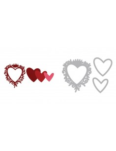 Framelits Die Set 3PK - Frame, Heart w/Crown by Pete Hughes