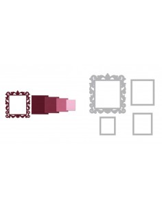 Framelits Die Set 4PK - Frame, Square w/Ornate Edges by Pete Hughes