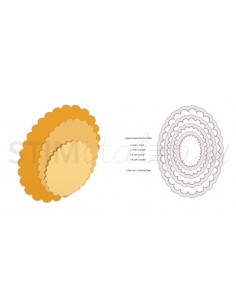 Framelits Die Set 4PK - Ovals, Scallop