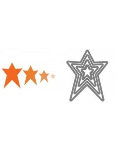 Framelits Die Set 4PK - Stars, Primitive by Rachael Bright