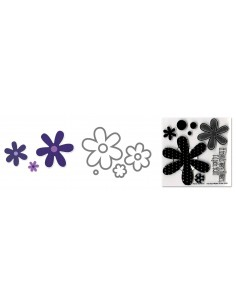 Framelits Die Set 6PK w/Stamp - Flowers, Daisies by Stephanie Barnard