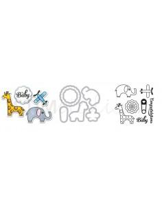Framelits Die Set 6PK w/Stamps - Baby
