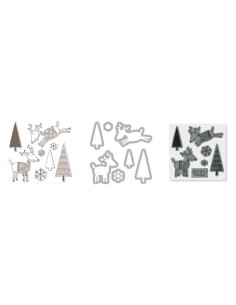 Framelits Die Set 7PK w/Stamp - Reindeer by Hero Arts