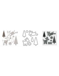 Framelits Die Set 7PK w/Stamp - Reindeer by Hero Arts