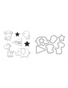 Framelits Die Set 7PK w/Stamps - Baby Boy by doodlebug design inc.
