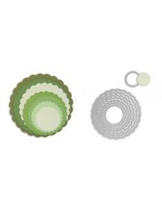 Framelits Die Set 8PK - Circles, Scallop