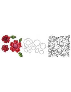 Framelits Die Set 8PK w/Stamps - Flowers 5 by Stephanie Ackerman