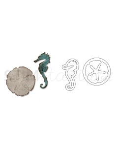 Movers & Shapers Die Magnetic Set 2PK - Mini Sand & Sea by Tim Holtz