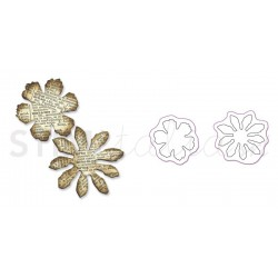 Movers & Shapers Die Magnetic Set 2PK - Mini Tattered Florals Set by Tim Holtz
