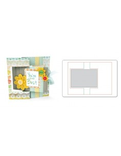 Movers & Shapers L Die - Card, Rectangle Flip-its by Stephanie Barnard