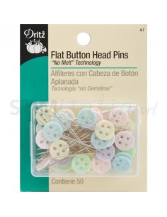 PIN BUTTON HEAD - Spilli con testa a bottone - 50pz