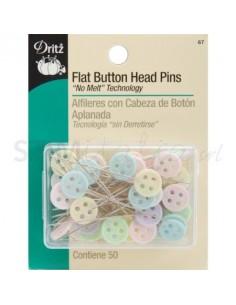 PIN BUTTON HEAD - Spilli con testa a bottone - 50pz