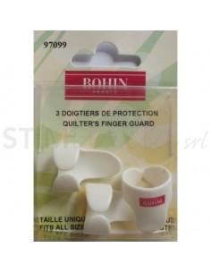 Proteggi dita per Quilter, Bianco Regolabile 3pz