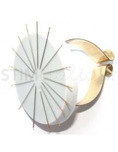 Puntaspilli Magnetico da Polso con bracciale in Metallo