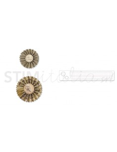 Sizzlits Decorative Strip Die - Mini Paper Rosettes (2 Sizes) by Tim Holtz